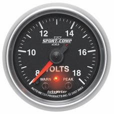 AutoMeter Products 3683 2-1/16in Voltmeter, 8-18V FSE, SC II