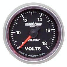 AutoMeter Products 3691 2-1/16in Voltmeter  8-18V FSE  Sport--Comp II