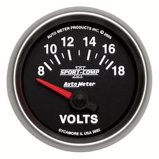AutoMeter Products 3692 Voltmeter 8-18 Volts