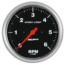 "AutoMeter Products 3997 Sport-Comp Gauge, Tachometer, 5"", 6k Rpm, In-Dash"