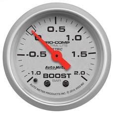 "AutoMeter Products 4303-M2 Vac/Boost Gauge 2 1/16"", -1 - +2 BAR, Mechanical Ultra-Lite"