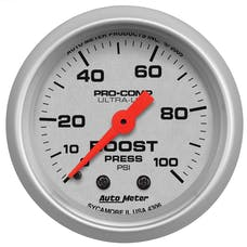 AutoMeter Products 4306 GAUGE; BOOST; 2 1/16in.; 100PSI; MECHANICAL; ULTRA-LITE