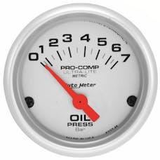 AutoMeter Products 4327-M Gauge; Oil Pressure; 2 1/16in.; 7 BAR; Electric; Ultra-Lite