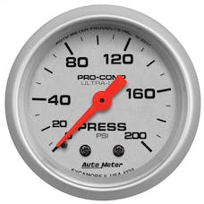 "AutoMeter Products 4334 Air Pressure Gauge 2 1/16"", 200psi, Mechanical, Ultra-Lite"