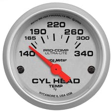 "AutoMeter Products 4336-M Gauge, Cylinder Head Temp, 2 1/16"", 60-170Γö¼Γòæc, Electric, Ultra-Lite"