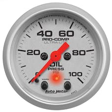 AutoMeter Products 4352 Oil Pressure 2-1/16in 0-100 PSI  with Peak & Warn