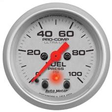 AutoMeter Products 4371 Gauge; Fuel Press; 2 1/16in.; 100psi; Digital Stepper Motor w/Peak/Warn; Ultra-L