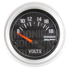 """AutoMeter Products 4391-09000 Voltmeter Gauge 2 1/16"""", 18V Electric Hoonigan"""