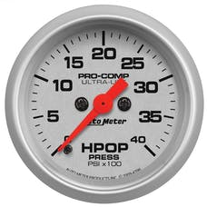 AutoMeter Products 4396 Gauge; High Press Oil Pump; 2 1/16in.; 4kpsi; Digital Stepper Motor; Ultra-Lite