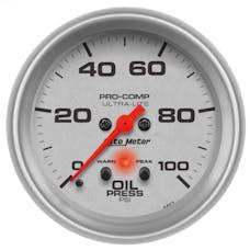 AutoMeter Products 4452 Gauge; Oil Press; 2 5/8in.; 100psi; Digital Stepper Motor w/Peak/Warn; Ultra-Lit
