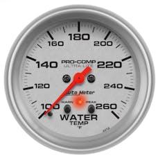 AutoMeter Products 4454 GAUGE; WATER TEMP; 2 5/8in.; 260deg.F; DIGITAL STEPPER MOTOR W/PEAK/WARN; ULTRA-
