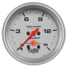 AutoMeter Products 4470 GAUGE; FUEL PRESS; 2 5/8in.; 15PSI; DIGITAL STEPPER MOTOR W/PEAK/WARN; ULTRA-LIT