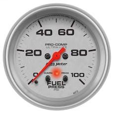 AutoMeter Products 4472 Gauge; Fuel Press; 2 5/8in.; 100psi; Digital Stepper Motor w/Peak/Warn; Ultra-Li