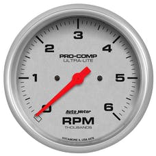 AutoMeter Products 4476 GAUGE; TACHOMETER; 5in.; 6K RPM; IN-DASH; ULTRA-LITE