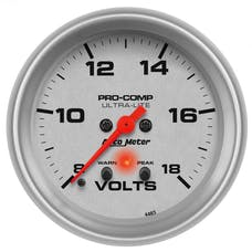 AutoMeter Products 4483 Voltmeter 2-5/8in 8-18V with peak & warn