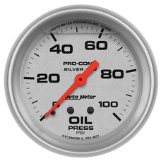 AutoMeter Products 4621 Gauge; Oil Press; 2 5/8in.; 100psi; Liquid Filled Mech; Ultra-Lite
