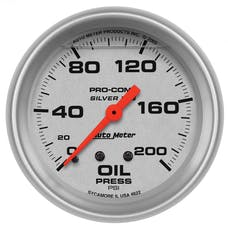 AutoMeter Products 4622 Gauge; Oil Press; 2 5/8in.; 200psi; Liquid Filled Mech; Ultra-Lite