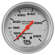 AutoMeter Products 4641 Ultra-Lite LFGs Oil Temperature Gauge 2 5/8in. 140-280F Incl. 6ft. Tubing 0.5