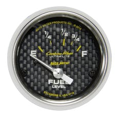"AutoMeter Products 4718 Fuel Level Gauge 2 1/16"" Electric Carbon Fiber 16?E to 158?F"