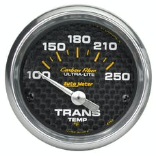 AutoMeter Products 4757 Gauge; Transmission Temp; 2 1/16in.; 100-250deg.F; Electric; Carbon Fiber