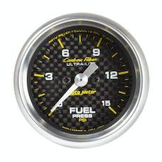 AutoMeter Products 4761 GAUGE; FUEL PRESSURE; 2 1/16in.; 15PSI; DIGITAL STEPPER MOTOR; CARBON FIBER