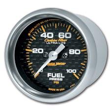 AutoMeter Products 4763 Gauge; Fuel Pressure; 2 1/16in.; 100psi; Digital Stepper Motor; Carbon Fiber