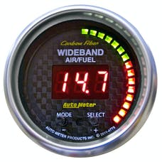 """AutoMeter Products 4778 2-1/16"""" Wideband A/F Carbon Fiber"""