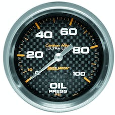 AutoMeter Products 4821 GAUGE; OIL PRESSURE; 2 5/8in.; 100PSI; MECHANICAL; CARBON FIBER