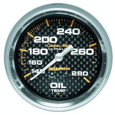AutoMeter Products 4841 GAUGE; OIL TEMP; 2 5/8in.; 140-280deg.F; MECHANICAL; CARBON FIBER