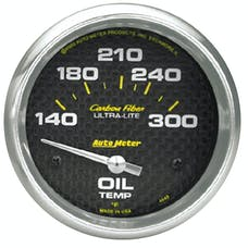 AutoMeter Products 4848 Gauge; Oil Temp; 2 5/8in.; 140-300deg.F; Electric; Carbon Fiber