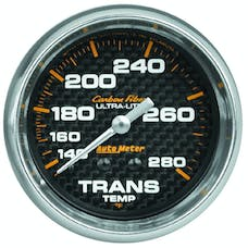 AutoMeter Products 4851 Gauge; Transmission Temp; 2 5/8in.; 140-280deg.F; Mechanical; Carbon Fiber