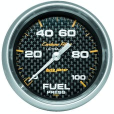 AutoMeter Products 4863 Gauge; Fuel Pressure; 2 5/8in.; 100psi; Digital Stepper Motor; Carbon Fiber