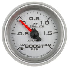 "AutoMeter Products 4903-M2 Vac/Boost Gauge 2 1/16"", -1 - +2 Bar Mechanical, Ultra-Lite II"