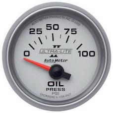 AutoMeter Products 4927 Gauge; Oil Pressure; 2 1/16in.; 100psi; Electric; Ultra-Lite II