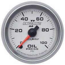 AutoMeter Products 4953 Gauge; Oil Pressure; 2 1/16in.; 100psi; Digital Stepper Motor; Ultra-Lite II