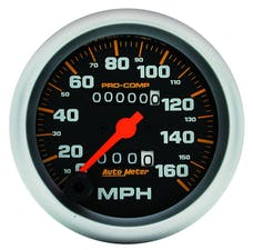 AutoMeter Products 5153 Pro-Comp Mechanical In-Dash Speedometer 3 3/8in. 160 MPH Resettable Trip