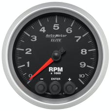 AutoMeter Products 5697 3 3/8 In Dash Tach 0-10,000 RPM, Elite