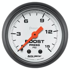 """AutoMeter Products 5702 2-1/16"""" Boost 0-15 psi, Phantom"""
