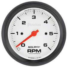"AutoMeter Products 5875 Phantom Gauge, Tachometer, 3 3/8"", 6k Rpm, In-Dash"