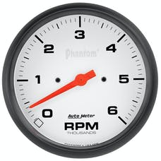 "AutoMeter Products 5876 Phantom Gauge, Tachometer, 5"", 6k Rpm, In-Dash"