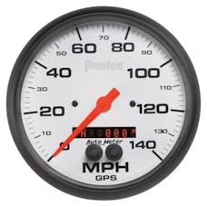 AutoMeter Products 5881 Gauge; Speedometer; 5in.; 140mph; GPS; Phantom