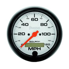 AutoMeter Products 5887 Gauge; Speedo; 3 3/8in.; 120mph; Elec. Program w/LCD odo; Phantom