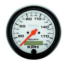 AutoMeter Products 5887-M Gauge; Speedometer; 3 3/8in.; 190km/h; Elec. Prog. w/LCD Odo; Phantom