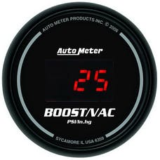 AutoMeter Products 6359 2-1/16in Boost-Vac, 30/30 Digital Black