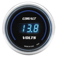 AutoMeter Products 6391 Gauge; Stereo Voltage; 2 1/16in.; 19V; Digital; Cobalt