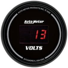AutoMeter Products 6393 Gauge; Voltmeter; 2 1/16in.; 18V; Digital; Black Dial w/Red LED