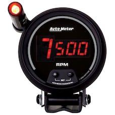 AutoMeter Products 6399 Gauge; Tach; 3 3/4in.; 10k RPM; Pedestal w/ext. Quick-Lite; Digital; Blk Dial w/