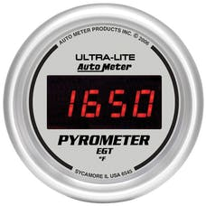 AutoMeter Products 6545 2-1/16in E.G.T. Pyrometer 0-2000 F -  Digital Silver