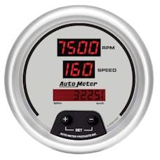 AutoMeter Products 6587 GAUGE; TACH/SPEEDO; 3 3/8in.; 260MPH/260 KM/H/10K RPM; ELEC. PROGRAM; DIGITAL; S