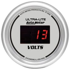 AutoMeter Products 6593 Gauge; Voltmeter; 2 1/16in.; 18V; Digital; Silver Dial w/Red LED